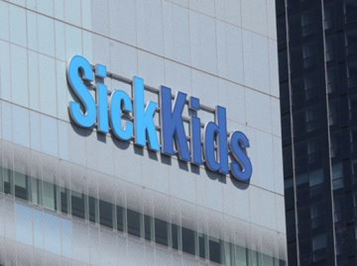 SickKids Colin McConnell/Toronto Star  Sick kids logos from the exterior of the hospital on University Avenue in Toronto. SickKids Foundation is partnering with Topper's Pizza Canada in an effort to raise $50,000 for the hospital.