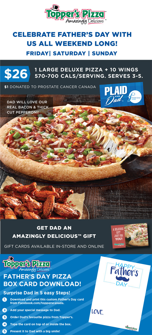 1 Large Deluxe Pizza + 10 Wings for $26!
